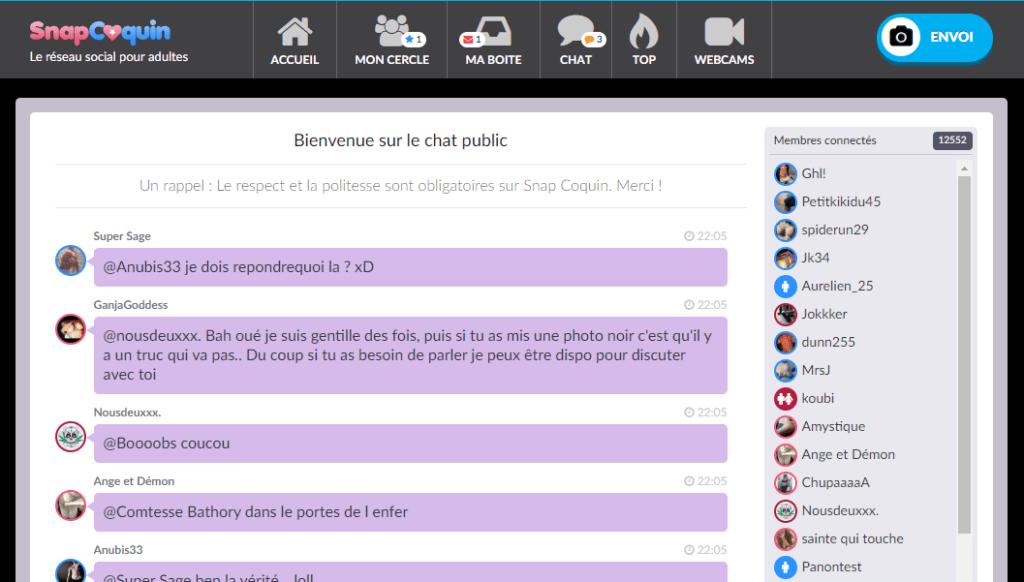 chat public snapcoquin